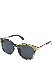San Diego Hat Company - BSG1005 Frame Sunglasses with Side Gold Panels and Solid Tinted Round Lenses