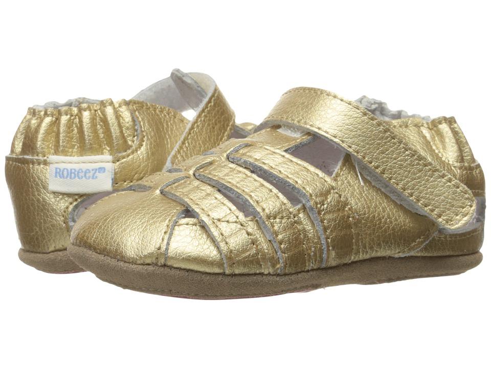 Robeez Paris Sandal Mini Shoez (Infant/Toddler) (Gold) Girls Shoes