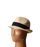 San Diego Hat Company - UBF1018 Solid Paper Braid Fedora with Ribbon Trim