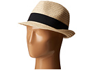 San Diego Hat Company UBF1018 Solid Paper Braid Fedora with Ribbon Trim