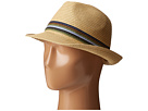 San Diego Hat Company UBF1019 Paper Braid Fedora Hat with Multicolor Inset Around Crown