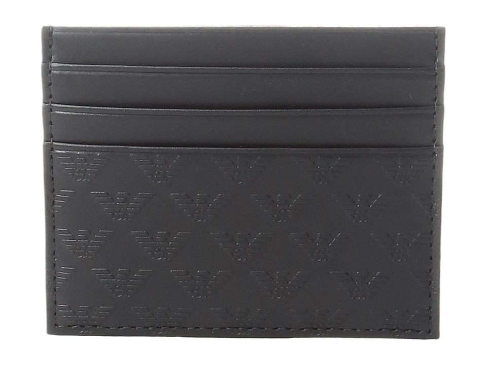 Emporio Armani - Quilted Card Holder (Black) Wallet