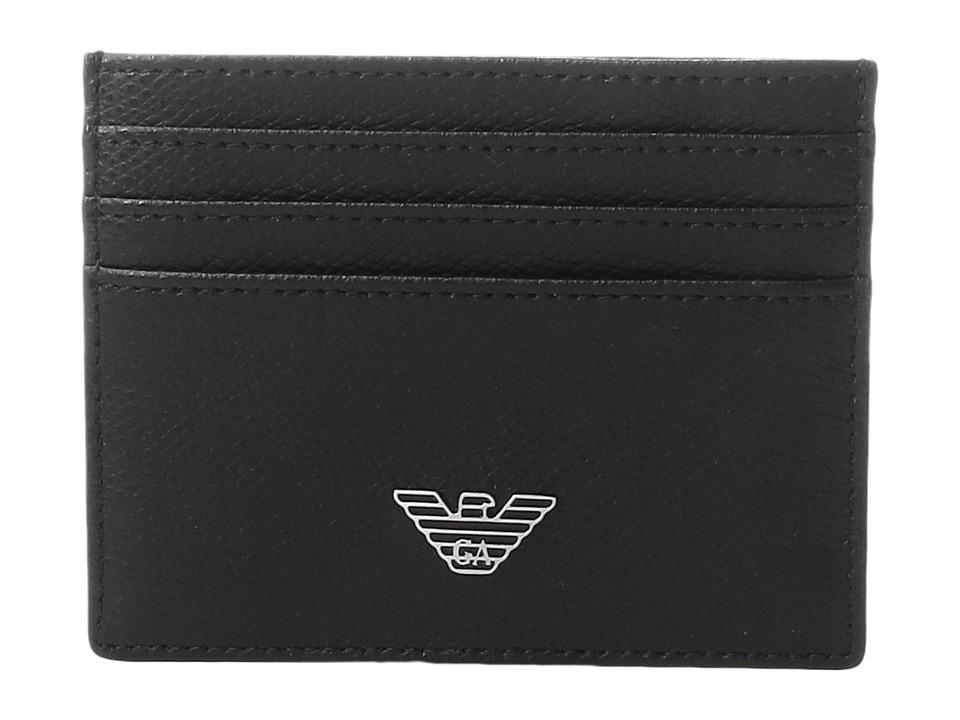 Emporio Armani - Grained Card Holder (Black) Wallet