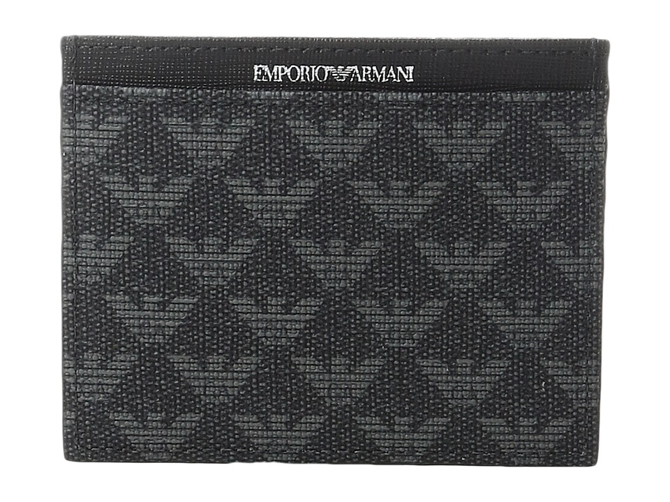 Emporio Armani - Eagle Card Holder (Lavagna/Black) Wallet