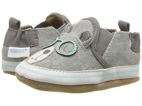 Robeez Brainy Bear Soft Sole (Infant/Toddler) - Grey