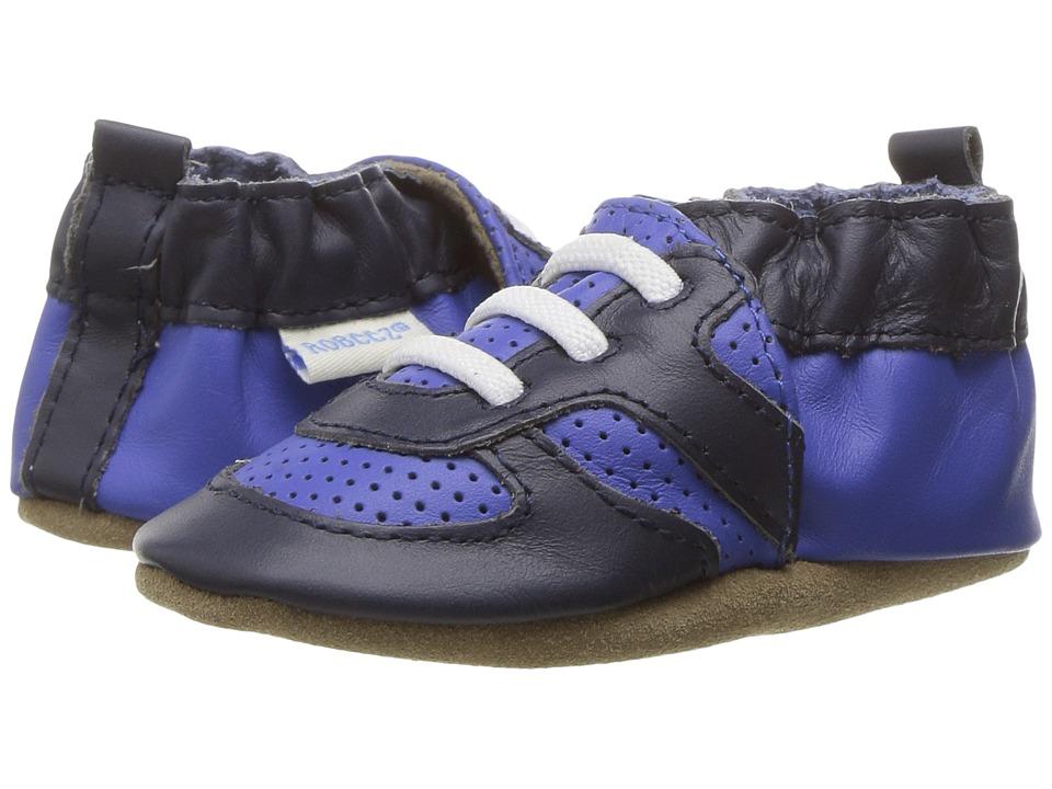 Robeez Super Sporty Soft Sole (Infant/Toddler) (Grey) Boy's Shoes