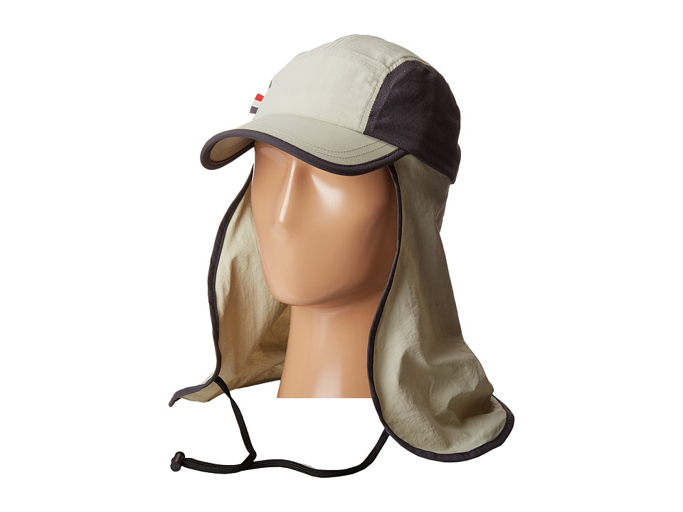 San Diego Hat Company - OCM4623 Lightweight 5 Panel Cap with Perforated Side Panels with Neck Cover and Neck Tie (Khaki) Traditional Hats