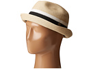 San Diego Hat Company San Diego Hat Company SDH3020 Pinched Crown Braid Pork Pie Hat with Multi Pop Color Insert