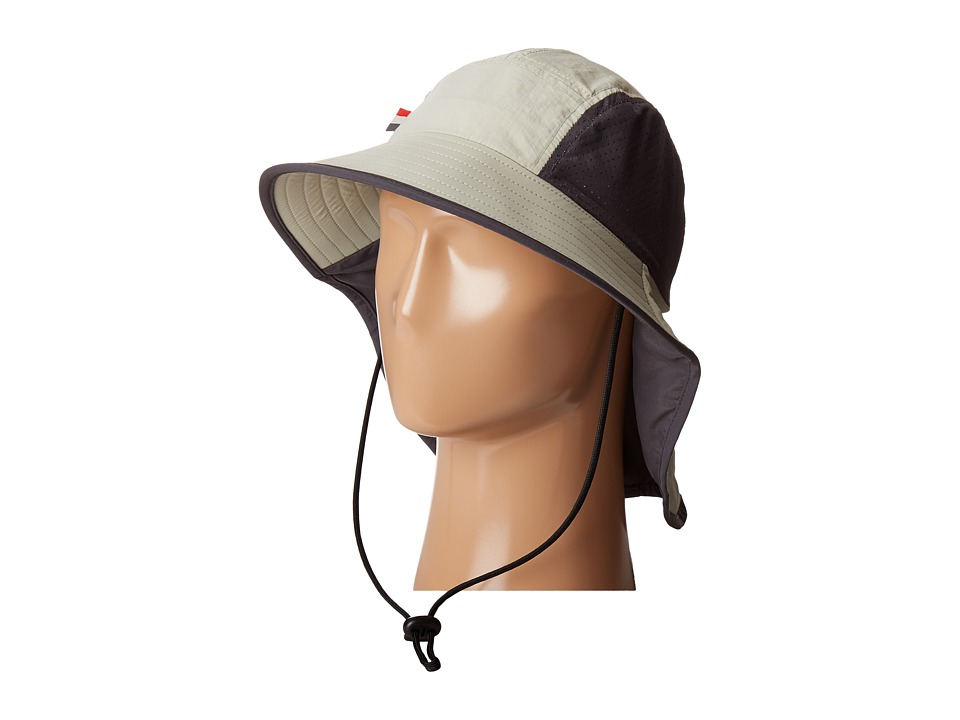 San Diego Hat Company - OCM4622 Lightweight Outdoor Hat with Perforated Crown Inset, and Adjustable Chin Corn and Neck Flap (Khaki) Traditional Hats