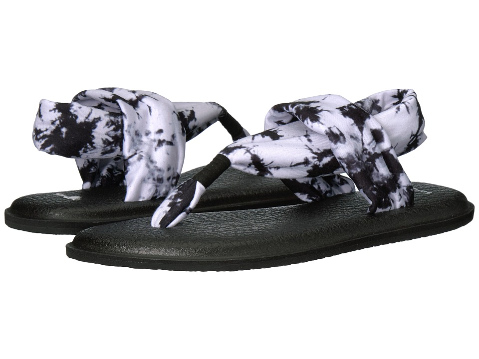 Sanuk - Yoga Sling 2 Prints (Black Tye Dye) Women's Sandals
