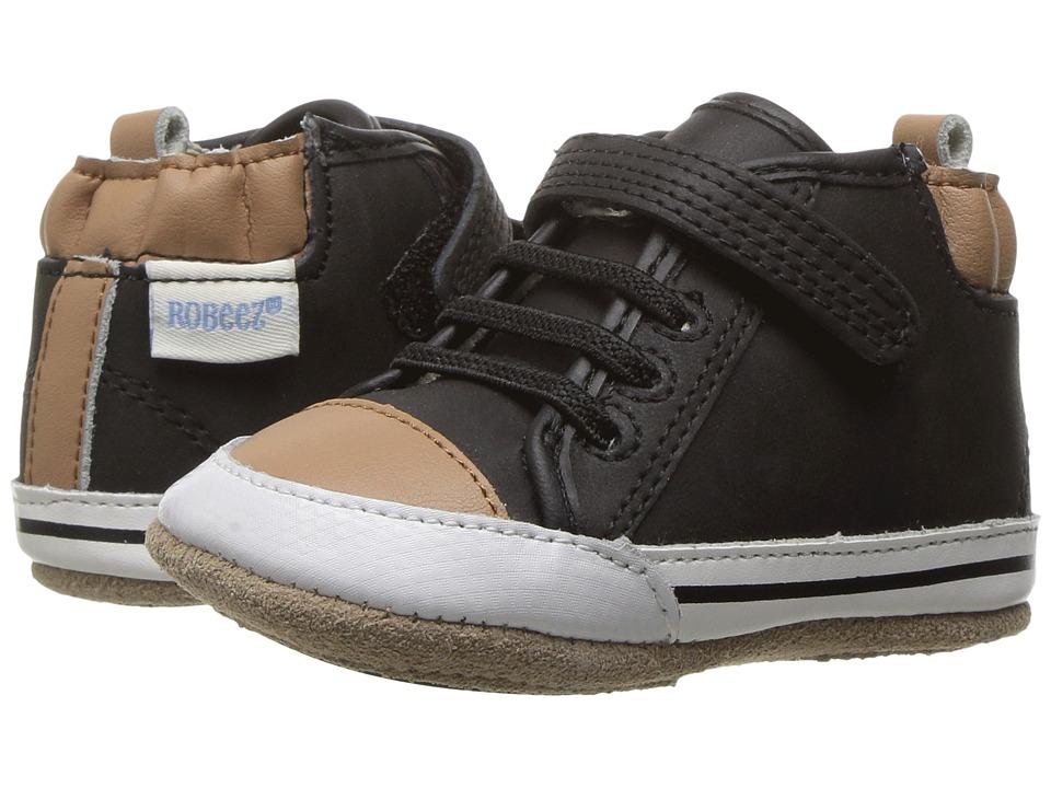 Robeez Brandon High Top Mini Shoez (Infant/Toddler) (Black) Boy's Shoes