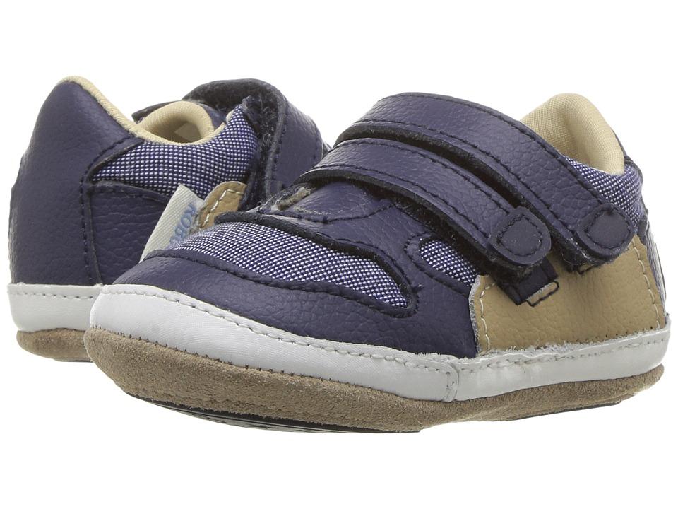 Robeez Jaime Sneaker Mini Shoez (Infant/Toddler) (Navy) Boy's Shoes