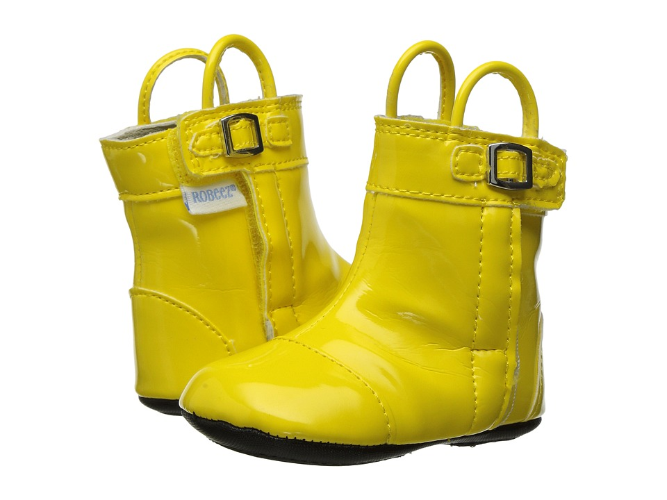 Robeez Puddle Jumper Rain Boot Mini Shoez (Infant/Toddler) (Yellow) Boys Shoes