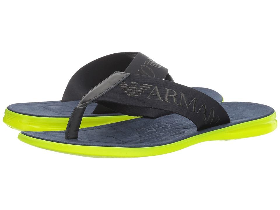 Emporio Armani Logo Thong Sandal (Night) Men