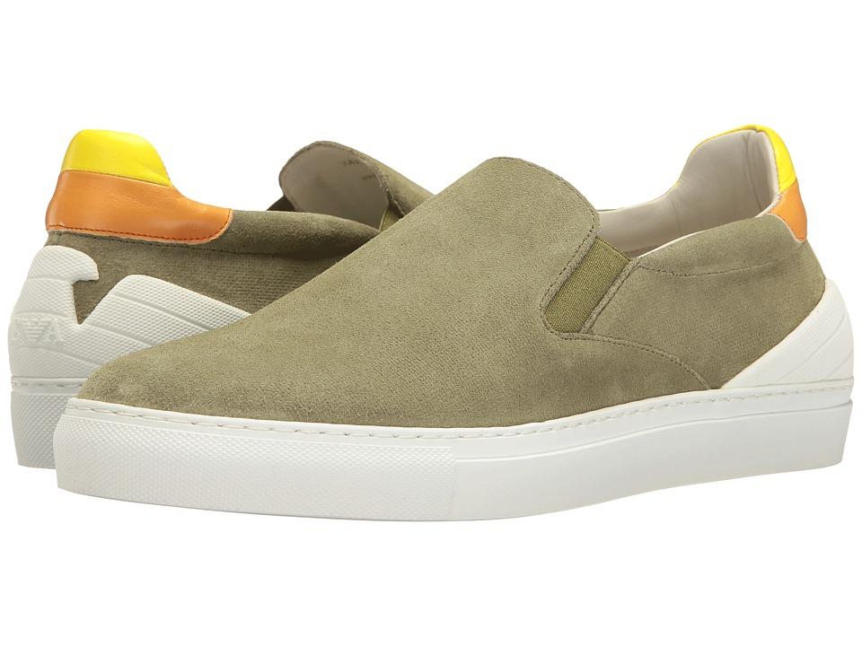 Emporio Armani - Slip-On Sneaker (Sage) Men's Shoes
