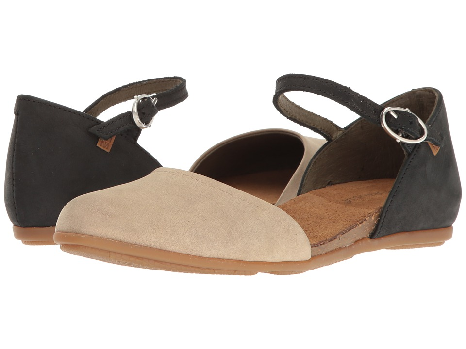 El Naturalista Stella ND54 (Black/Piedra) Women's Shoes