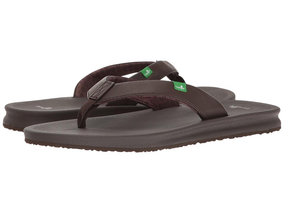 Sanuk Yoga Mat Wander (Brown) Sandals