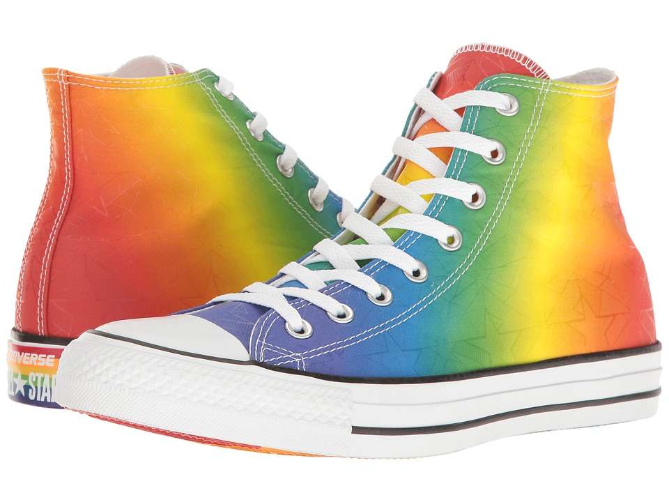 Converse Chuck Taylor All Star Hi-Pride Collection (Multi/White/Black) Lace up casual Shoes