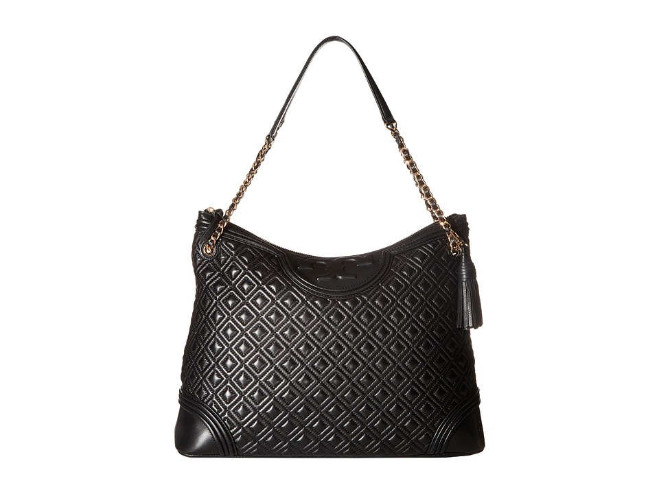 Tory Burch Fleming Tote (Black) Tote Handbags