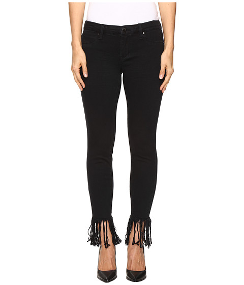 Blank NYC Released Hem/Fray Black Crop Skinny in Be A Frayed - Be A Frayed
