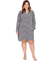 DKNY - Plus Size Long Sleeve Shirtdress
