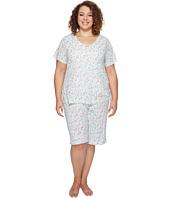 Carole Hochman - Plus Size Knit Bermuda PJ