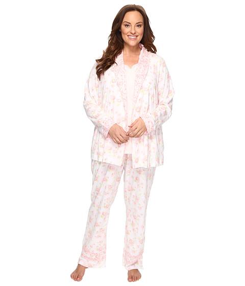 Carole Hochman Plus Size Knit Jersey Three-Piece PJ