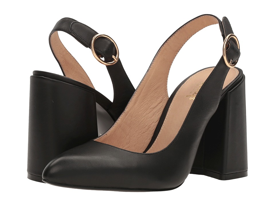 Shellys London Chester (Black Leather) High Heels