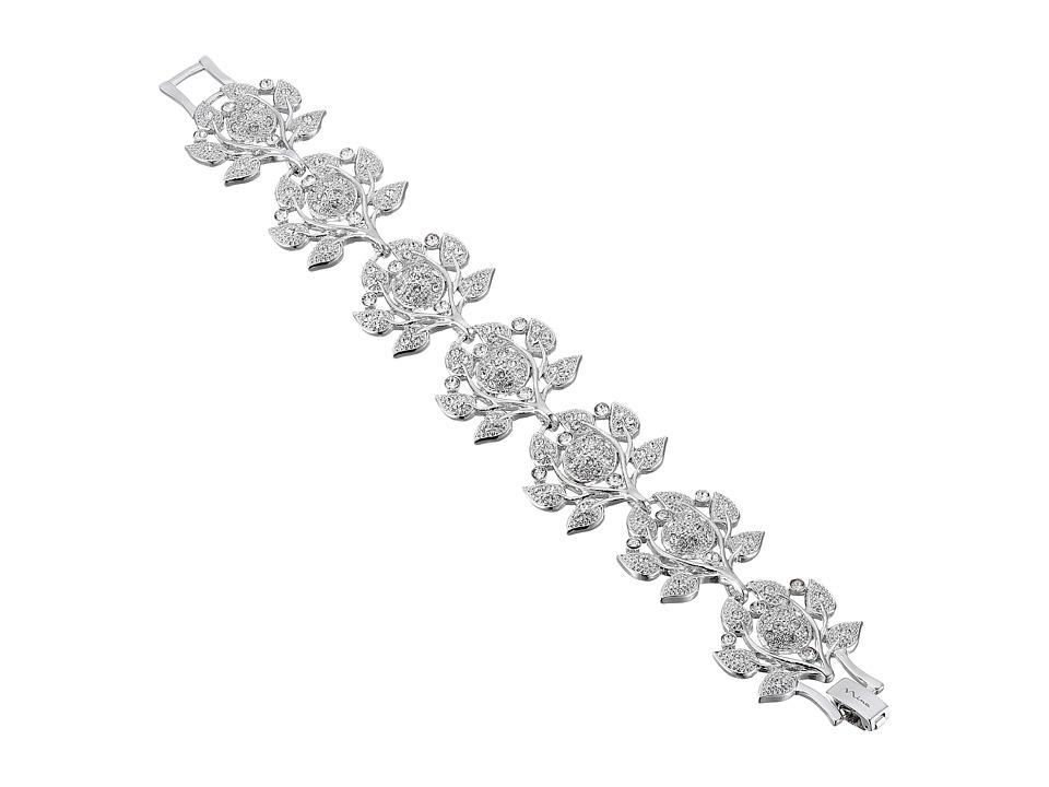 Nina Ashlen Camilia Swarovski Bracelet (Rhodium) Bracelet
