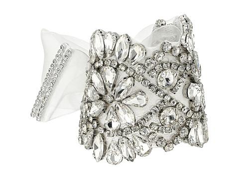 Nina Gabrial Elaborate Boho Tie-on Bracelet - Ivory/Organza