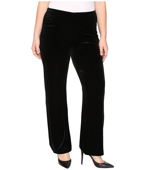 Lysse Plus Size Velvet Pants - Black