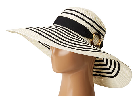 LAUREN Ralph Lauren Bright & Natural Sun Hat - Cream/Black