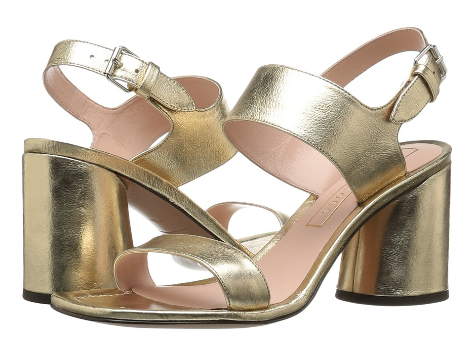 Marc Jacobs Emilie Strap Sandal (Gold Leather) Women