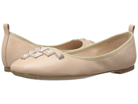 Marc Jacobs Cleo Studded Ballerina - Nude Leather