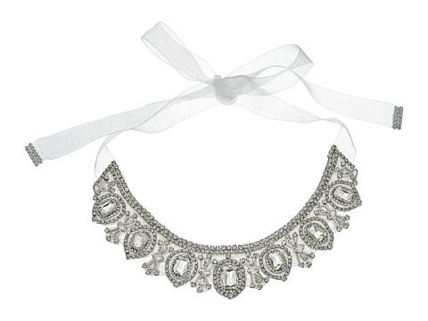 Nina Azalea Glamorous Boho Tie-on Necklace - Ivory/Organza