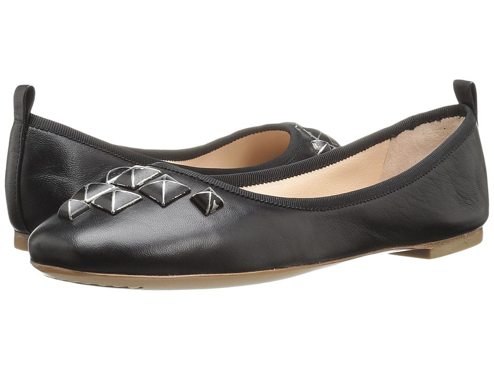 Marc Jacobs Cleo Studded Ballerina (Black Leather) Women