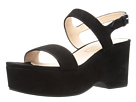 Marc Jacobs - Lily Wedge Sandal (Black Suede)