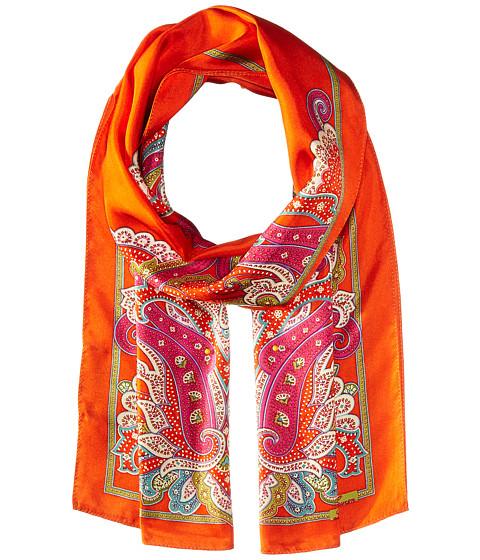 LAUREN Ralph Lauren Malia Silk Twill Scarf - Tropical Orange