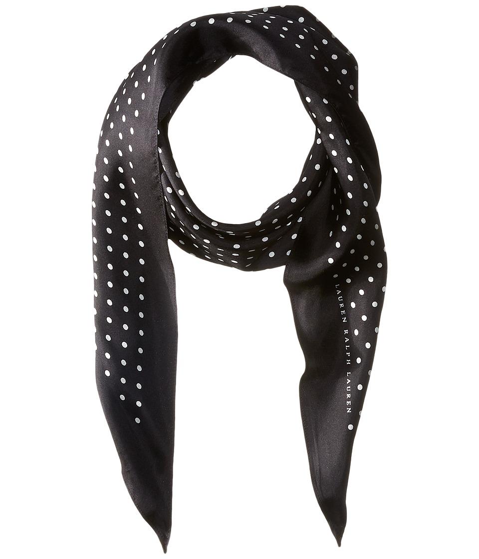 Vintage Scarves- New in the 1920s to 1960s Styles LAUREN Ralph Lauren - Simone Silk Twill Scarf Black Scarves $32.99 AT vintagedancer.com
