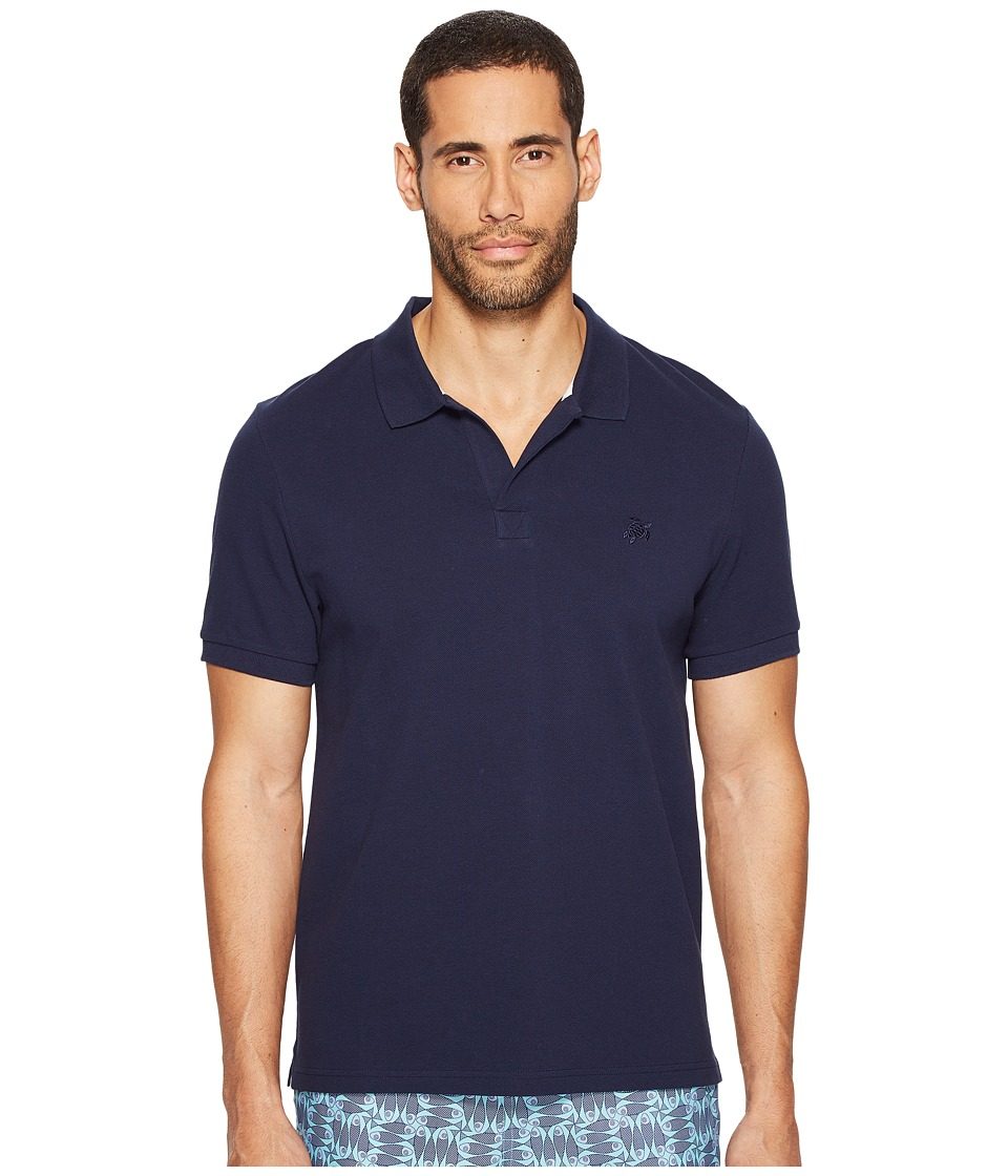 Vilebrequin - Pique Polo (Navy/White) Mens Clothing