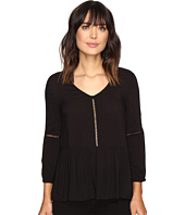 Calvin Klein Jeans - Pleated Drop Waist Peasant Blouse