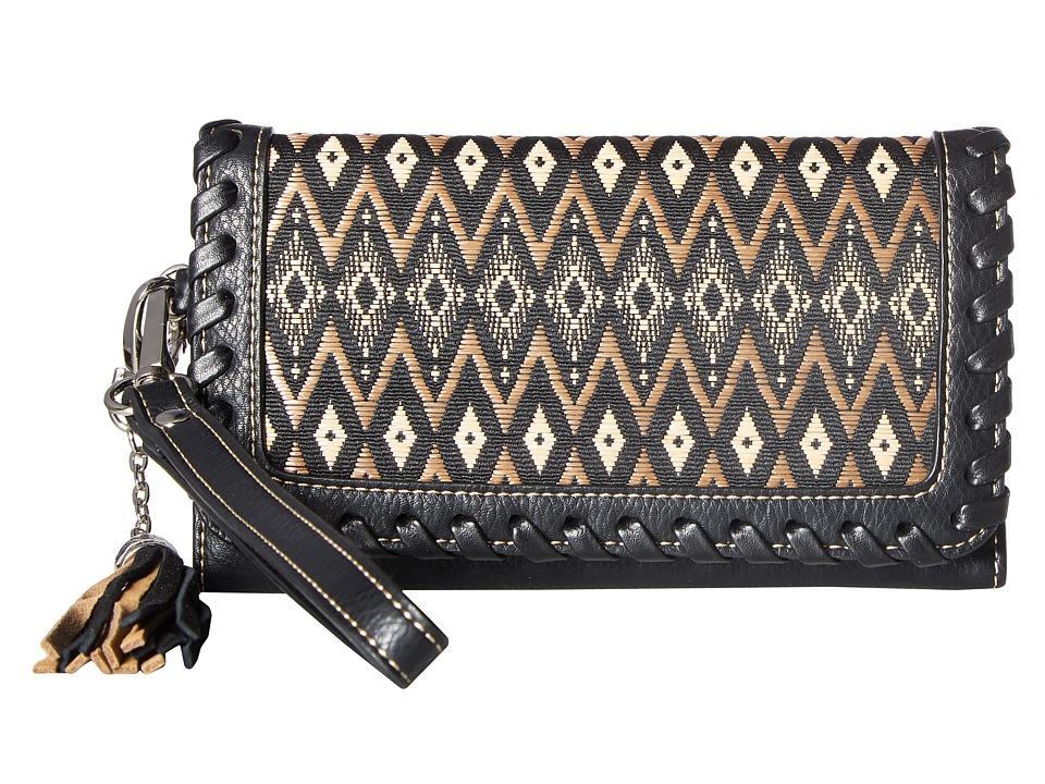 M&F Western - Arizona Clutch (Black/Tan) Clutch Handbags
