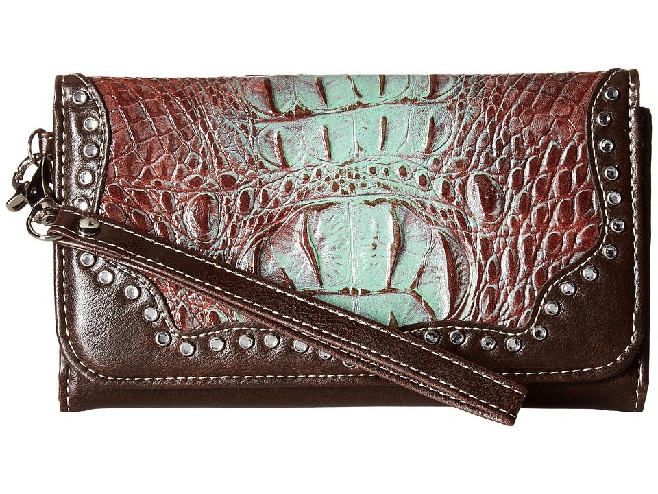 M&F Western - Carmel Clutch (Tan) Clutch Handbags