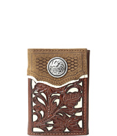 M&F Western - Floral Overlay Trifold Wallet
