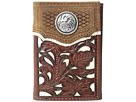 M&F Western Floral Overlay Trifold Wallet
