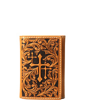 M&F Western - Scroll Embossed 3 Crosses Trifold Wallet