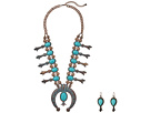 M&F Western Large Squash Blossom Necklace/Earrings Set