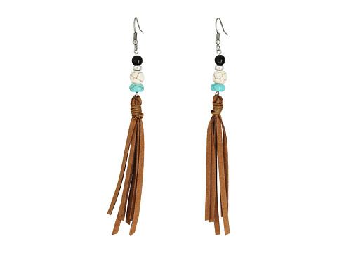 M&F Western Bead and Tassel Earrings - Brown