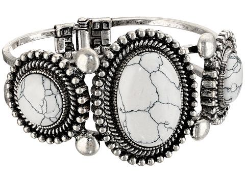 M&F Western Stone Stretch Bracelet - White