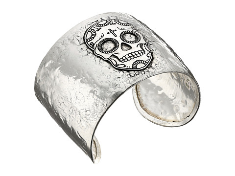 M&F Western Skull Cuff Bracelet - Silver
